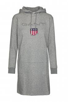 ŠATY GANT O1. GANT SHIELD HOODIE DRESS