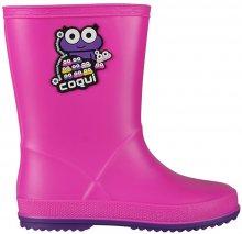 Coqui Dětské holínky Rainy Fuchsia/Purple 8505-100-0543 24