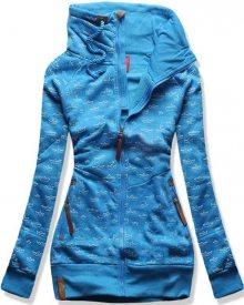 Modrá mikina D373