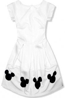 Bílé šaty s Mickey potiskem
