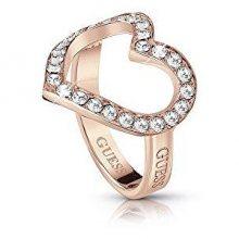 Guess Romantický prsten s třpytivým srdcem UBR28002 52 mm