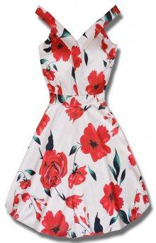MODOVO Elegantní dámské šaty bílé