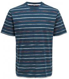 ONLY&SONS Pánské triko Leonard Stripe Ss Tee Majolica Blue S