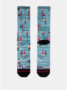 Černo-modré pánské ponožky s motivem fotbálku XPOOOS