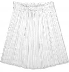 Bílá krátká skládaná sukně
