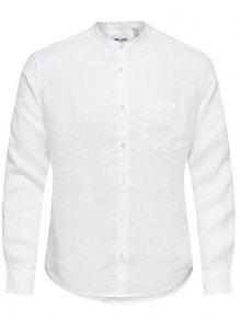 ONLY&SONS Pánská košile Luke LS Linen Mandarine Shirt S