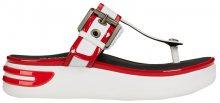 GEOX Dámské žabky Ottaya Sandal B White/Scarlet D92CMB-08502-C1Z7Y 36