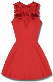 MODOVO Elegantní dámské šaty červené