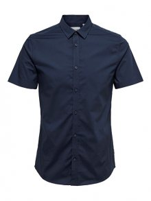 ONLY&SONS Pánská košile Alfredo SS Shirt Noos Dress Blues S