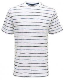 ONLY&SONS Pánské triko Leonard Stripe Ss Tee White S