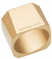 Michael Kors Masivní pozlacený prsten MKJ5832710 56 mm