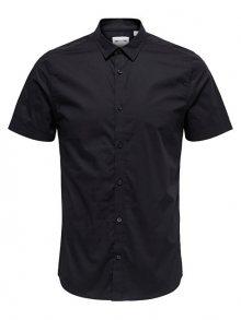 ONLY&SONS Pánská košile Alfredo SS Shirt Noos Black S