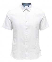 ONLY&SONS Pánská košile Caiden SS Linen Shirt Re White S