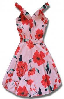 MODOVO Elegantní dámské šaty růžové