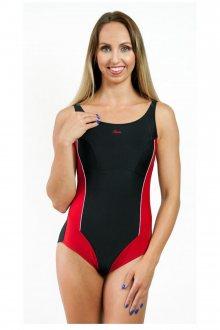 Dámské jednodílné plavky 720 black-red