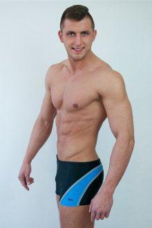 Pánské plavky M1418 black-blue
