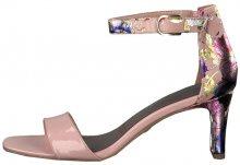 Tamaris Dámské sandále 1-1-28315-22-568 Rose Pat/Flow. 36
