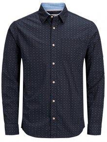 Jack&Jones Pánská košile Edward Shirt Ls Org Total Eclipse Slim M