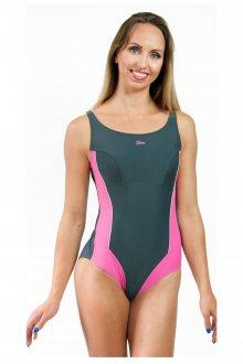 Dámské jednodílné plavky 720 grey-pink