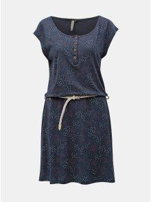 Tmavě modré vzorované šaty s páskem Ragwear Zephire