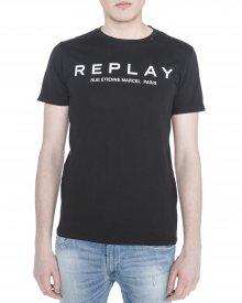 Triko Replay | Černá | Pánské | S