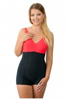 Dámské jednodílné plavky 930 black-red