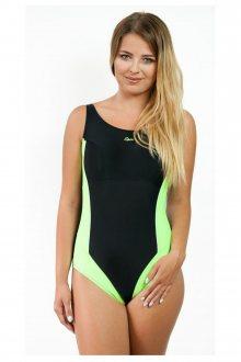 Dámské jednodílné plavky 720 black-green