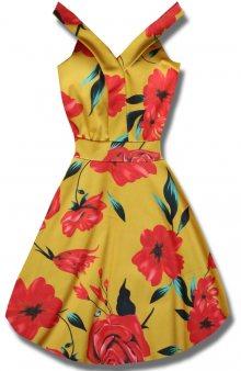 MODOVO Elegantní dámské šaty žluté