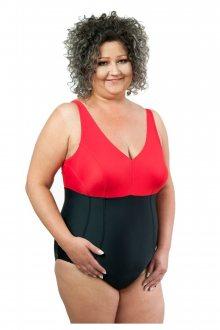 Dámské jednodílné plavky 1021 black-red