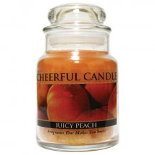 Cheerful Candle Vonná svíčka ve skle Šťavnatá broskev_6oz\n\n