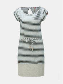 Světle šedé pruhované šaty Ragwear Soho
