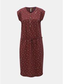 Vínové vzorované šaty s knoflíky Ragwear Zofka
