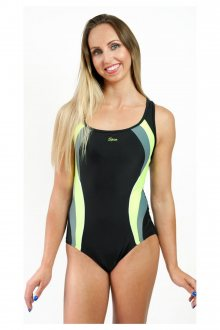 Dámské jednodílné plavky 722 black-yellow