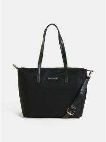 Černá kabelka s koženými detaily Smith & Canova Peril