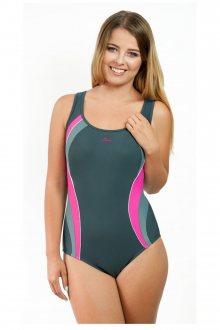 Dámské jednodílné plavky 722 grey-pink