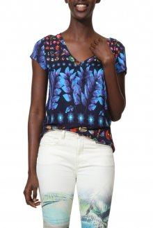 Desigual modré tričko TS Erika - S