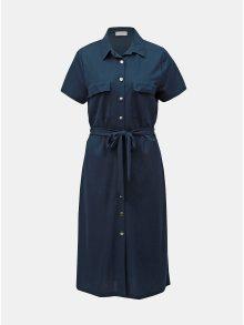 Tmavě modré košilové šaty VILA Safina