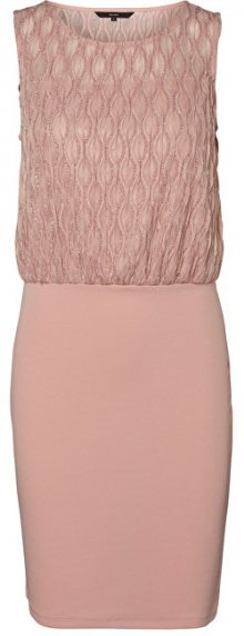Vero Moda Dámské šaty Shanie Sl Short Dress Boo Jrs Misty Rose XS