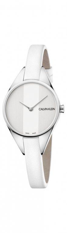 Rebel Hodinky Calvin Klein | Bílá Stříbrná | Dámské | UNI