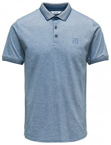 ONLY&SONS Pánské polo triko Stan SS Fitted Polo Tee Noos Majolica Blue S