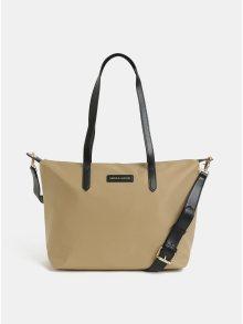 Béžová kabelka s koženými detaily Smith & Canova Peril