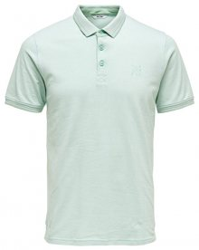 ONLY&SONS Pánské polo triko Stan SS Fitted Polo Tee Noos Grayed Jade S