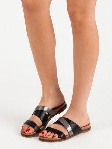 Originální dámské černé  nazouváky bez podpatku