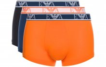 Boxerky 3 ks Emporio Armani | Modrá Oranžová | Pánské | S