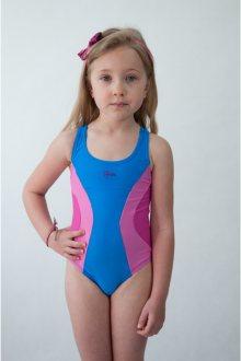 Dívčí plavky 0218 pink-blue