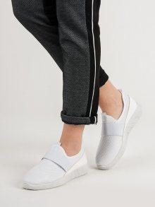 Krásné bílé  tenisky dámské bez podpatku