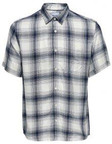 ONLY&SONS Pánská košile Samy Ss Reg Viscose Check Shirt Majolica Blue S
