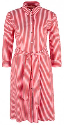 s.Oliver Dámské šaty 14.904.82.2007.26G5 Brick Red Stripes 34