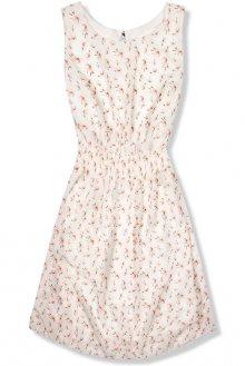 Lehké letní šaty s květinovým potiskem bílé