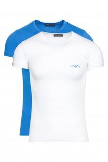 Spodní triko 2 ks Emporio Armani   Modrá Bílá   Pánské   S
